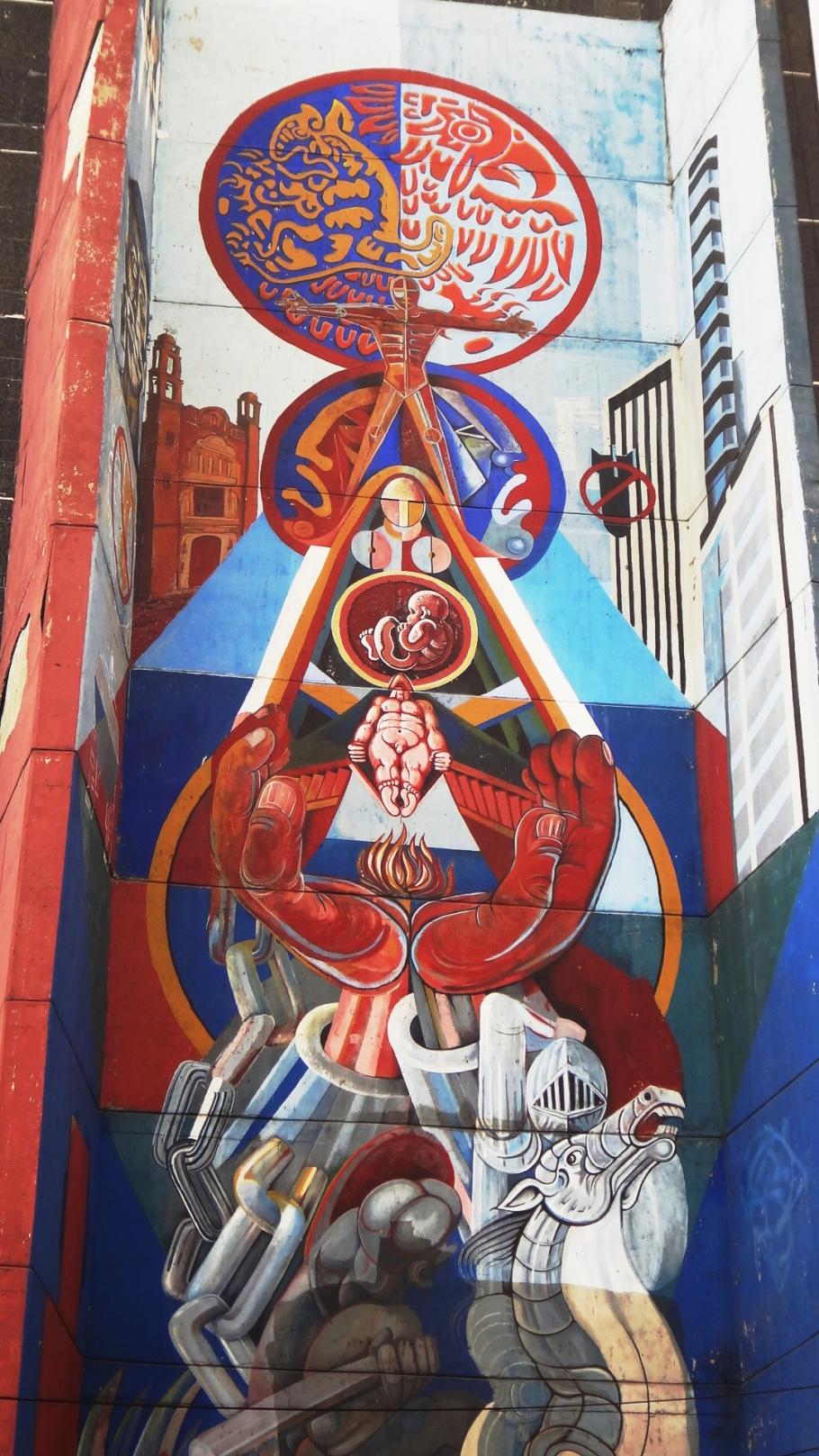 Mural en la Plaza de las tres culturas